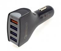 Автомобильное зарядное устройство с быстрой зарядкой Reddax RDX-110 3.5 A на 4 USB с кабелем Tipe-C, black