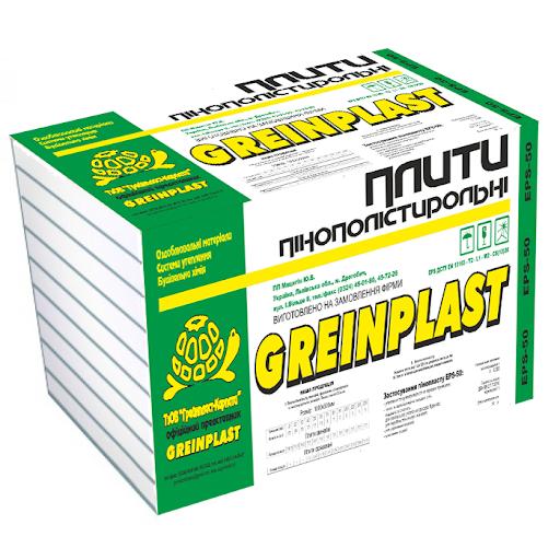 Плити пінополістирольні Greinplast 35 EPS 80 Пінопласт Грейнпласт 35