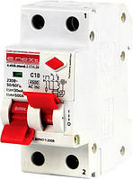 Выключатель дифференциального тока (дифавтомат) e.elcb.stand.2.C10.30, 2р, с разделенной рукояткой