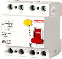 Выключатель дифференциального тока e.industrial.rccb.4.25.30, 4р, 25А, 30мА