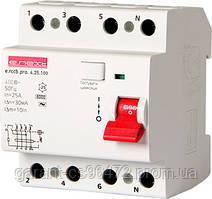 Вимикач диференціального струму e.rccb.pro.4.25.100, 4р, 25А, 100мА