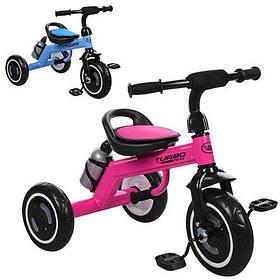 Триколісний велосипед Turbotrike M 3648-M-1 колеса піна, Малиновий