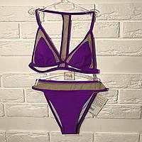 Купальник раздельный фиолетовый цвет в наличии размер S Польша