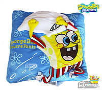 Мягкая подушка игрушка Губка Боб с подушкой/Sponge Bob with pillow 30*30 см