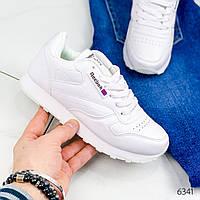Кроссовки женские под Reebok белые 6341, спортивная обувь