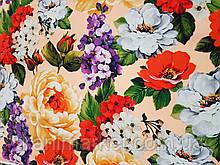 Креп-шовк друкарський Букет тканину для одягу