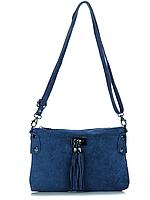 Женская итальянская натуральная кожаная сумка 24х16х1