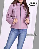 Куртка демисезонная укороченая пудровая размер 44, фото 1