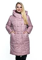 Женская, модная, удлиненная, весенняя куртка - полу пальто ,больших размеров р- 46, 48, 50, 52, 54, 56, 58, 60