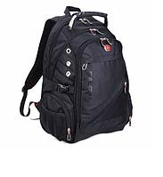 Городской рюкзак Swissgear 8810 Черный с дождевиком с дождевиком, фото 1