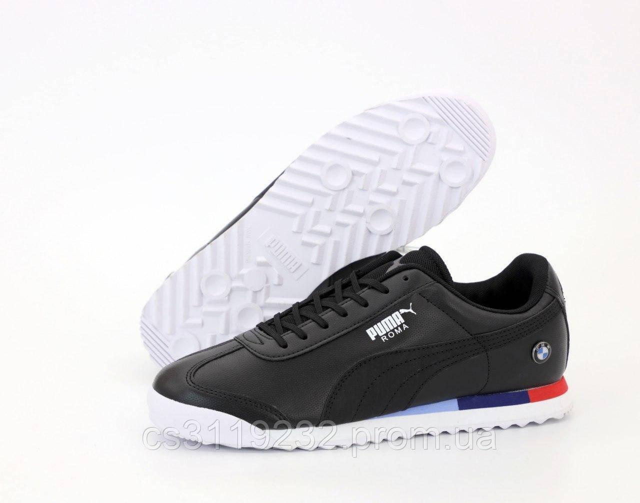 Мужские кроссовки Puma Roma BMW (черные)