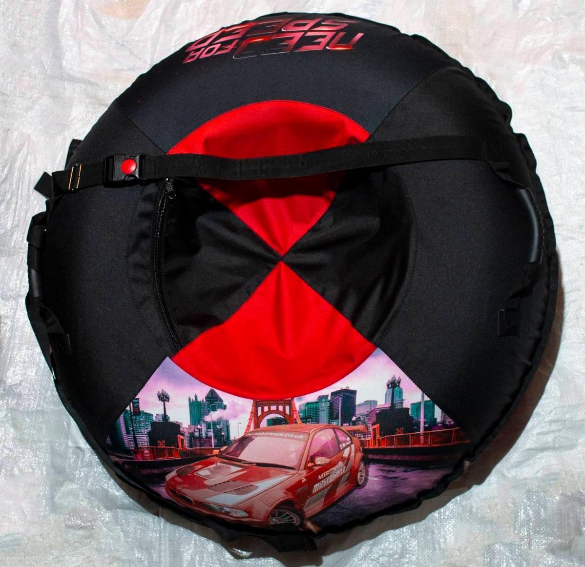 Надувные санки-ватрушка тюбинг Need for speed 100 см
