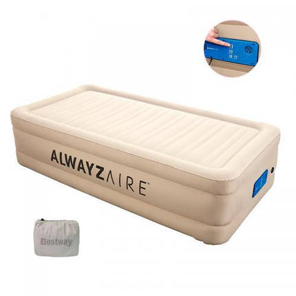 Кровать Bestway 69037 двухместный велюр 203-152-51 см, фото 2
