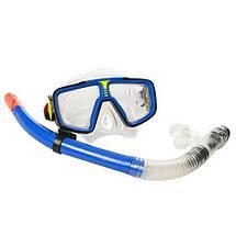 Набор для подводного плавания 65062 маска 17-8 см и трубка 37 см ярки цвета, фото 2