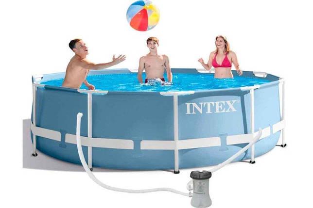 Каркасный бассейн для летнего отдыха Prism Frame Intex 26706 305Х99 см лестница насос-фильтр на 2006 л/ч  , фото 2