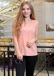 """Модная блуза-майка """"Хулиганка""""  Персиковый"""