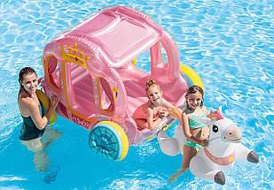 Игровой центр-бассейн Intex 56514 Карета Принцессы надувная карета и конь, фото 3