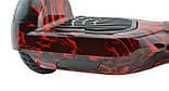 Гироборд 6,5 (самобаланс, подсветка, Bluetooth, сумка) Fire с пультом, фото 5