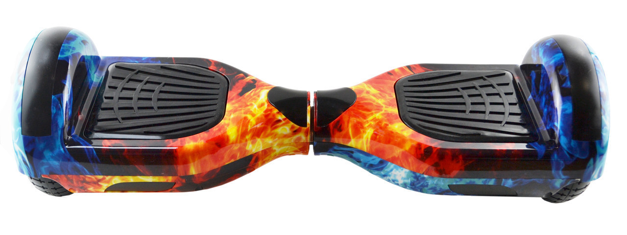 Гироборд 6,5 (самобаланс, подсветка, Bluetooth, сумка) Red/Blue Fire с пультом