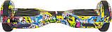 Гироборд 6,5 SmartWay с самобалансом с Bluetooth и колонками Yellow GraffitiS, фото 2