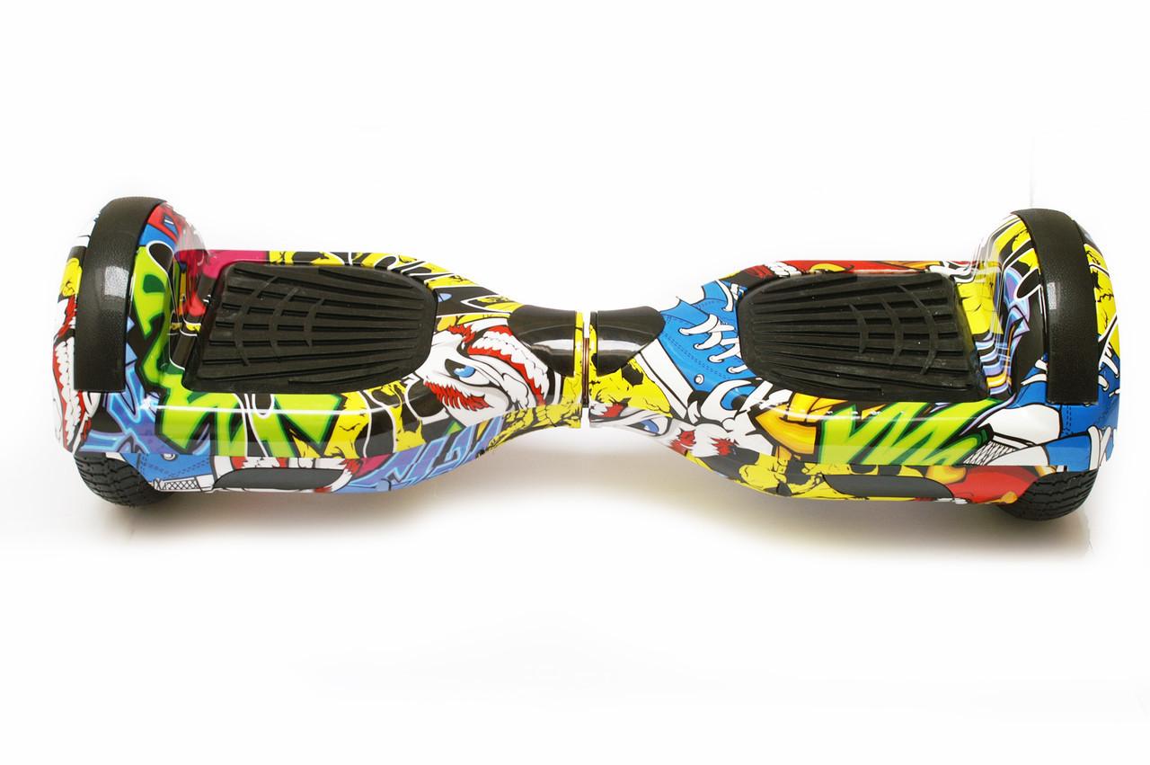 Гироборд 6,5 SmartWay с самобалансом с Bluetooth и колонками Yellow Graffiti