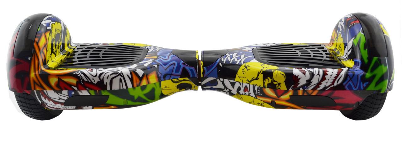 Гироборд 6,5 (самобаланс, подсветка, Bluetooth, сумка) Graffiti с пультом