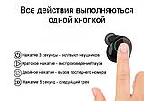 Бездротові Bluetooth-навушники Xvoice S7 TWS чорний, фото 8