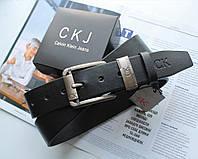 Мужской кожаный ремень Calvin Klein Black