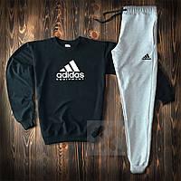 Мужской трикотажный костюм adidas equipment (Адидас) черный с серым