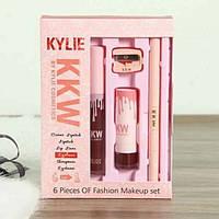 Набор для макияжа Kylie (Кайли) KKW 6в 1 с точилкой - Kylie