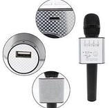 Беспроводной караоке микрофон MicGeek Q9  розовый золото чёрный 2 динамика, фото 2