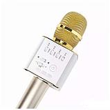 Беспроводной караоке микрофон MicGeek Q9  розовый золото чёрный 2 динамика, фото 4