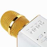 Беспроводной караоке микрофон MicGeek Q9  розовый золото чёрный 2 динамика, фото 7