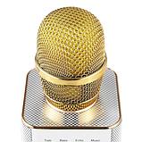 Беспроводной караоке микрофон MicGeek Q9  розовый золото чёрный 2 динамика, фото 8