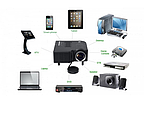 Міні-проектор UNIC 28 з Wi-fi Black, фото 5