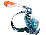 Маска для снорклинга (подводного плавания) Subea Easybreath S/M и M/L ракушка, фото 3