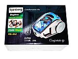 Пылесос колбовый Rainberg RB-652 2500 Вт Серо-синий жолтый, фото 4