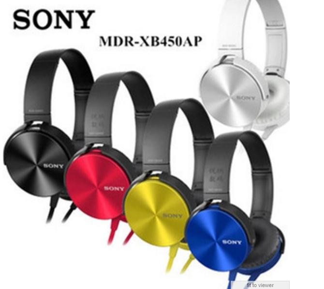 Навушники Sony MDR-XB450AP чорні білі сині червоні жовті
