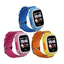 Детские телефон-часы с GPS трекером SWatch Q100 синие чёрные розовые