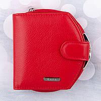 Кошелек женский кожаный KAFA с блокировкой RFID-сигналов, красный (fb), фото 1