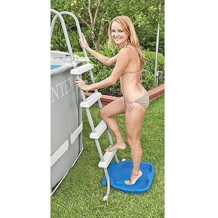 Ванночка для ополіскування ніг перед басейном Intex 29080 пластикова для сходів, фото 2