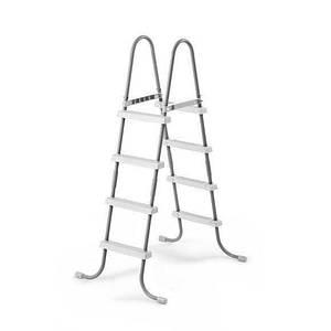 Сходи для басейнів до 122 см Іntex 28066 4 сходинки метал