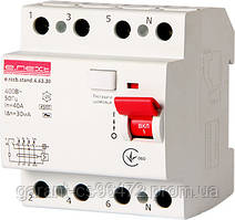 Выключатель дифференциального тока e.rccb.stand.4.63.30 4р, 63А, 30mA