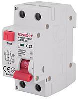 Выключатель дифференциального тока с защитой от сверхтоков e.rcbo.stand.2.C32.30, 1P+N, 32А, С, 30мА, фото 1