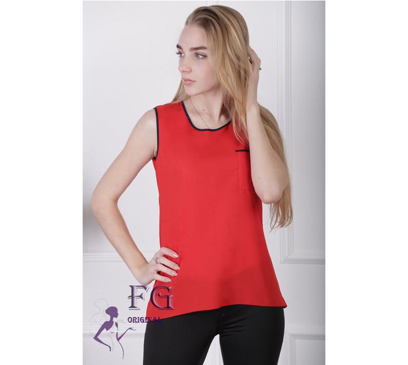"""Майка-блузка «Оливия""""  Красный"""