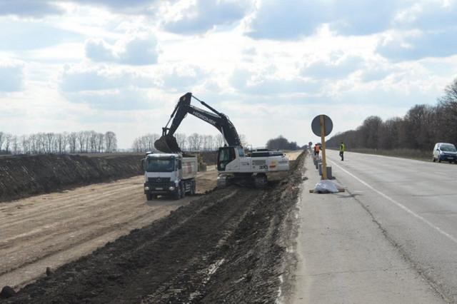 Будівництво дороги Київ - Харків