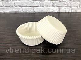 Форма паперова для міні-капкейків, цукерок Біла, Д30мм, висота 24мм (Комплект 100шт)