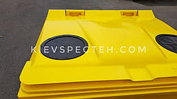 Евроконтейнер пластиковый 1100 л.,для ПЕТ (пластика), раздельный сбор мусора., фото 2