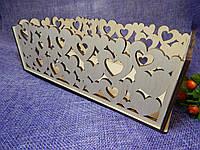 Декоративный деревянный ящик, коробка для цветов и подарков 23×11×8см