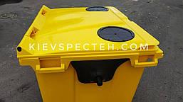 Евроконтейнер пластиковый 1100 л.,для ПЕТ (пластика), раздельный сбор мусора., фото 3